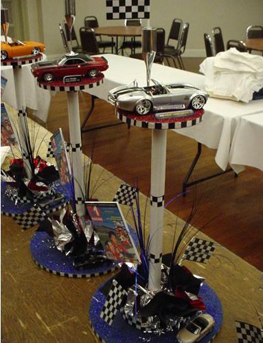 Race Car Party Centerpieces