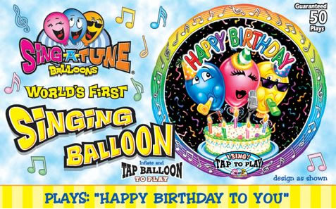 Sing A Tune Singing Foil Balloons Are Here Brought To You