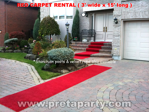 Red carpet 3'x15'