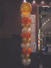 "A gigantic 40"" latex paddle balloon serves as the topper to this otherwise common balloon pillar. Available in most colours, paddle balloons are a great way to creat something original from something ordinary. Montreal's Pret-A-Party decoratrions"